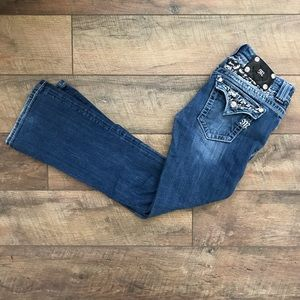 Miss Me Embellished Bootcut Denim Jeans 28x29